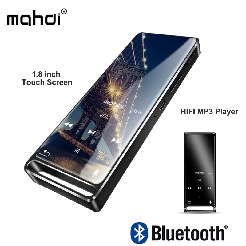 Mahdi Mp3 Player Bluetooth Touch Screen 1 8inch Sports HD HIFI 16GB Music  Player