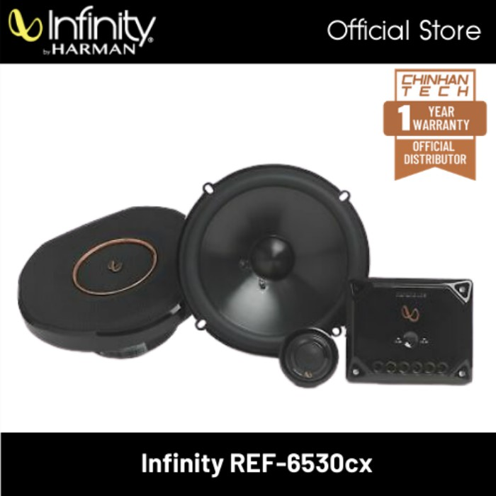"""Infinity Reference REF-6530cx 6-1/2"""" component speaker system"""