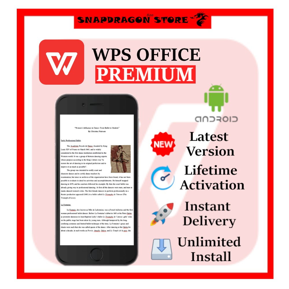 WPS Office Premium – Office Suite   Android APK   Shopee Malaysia