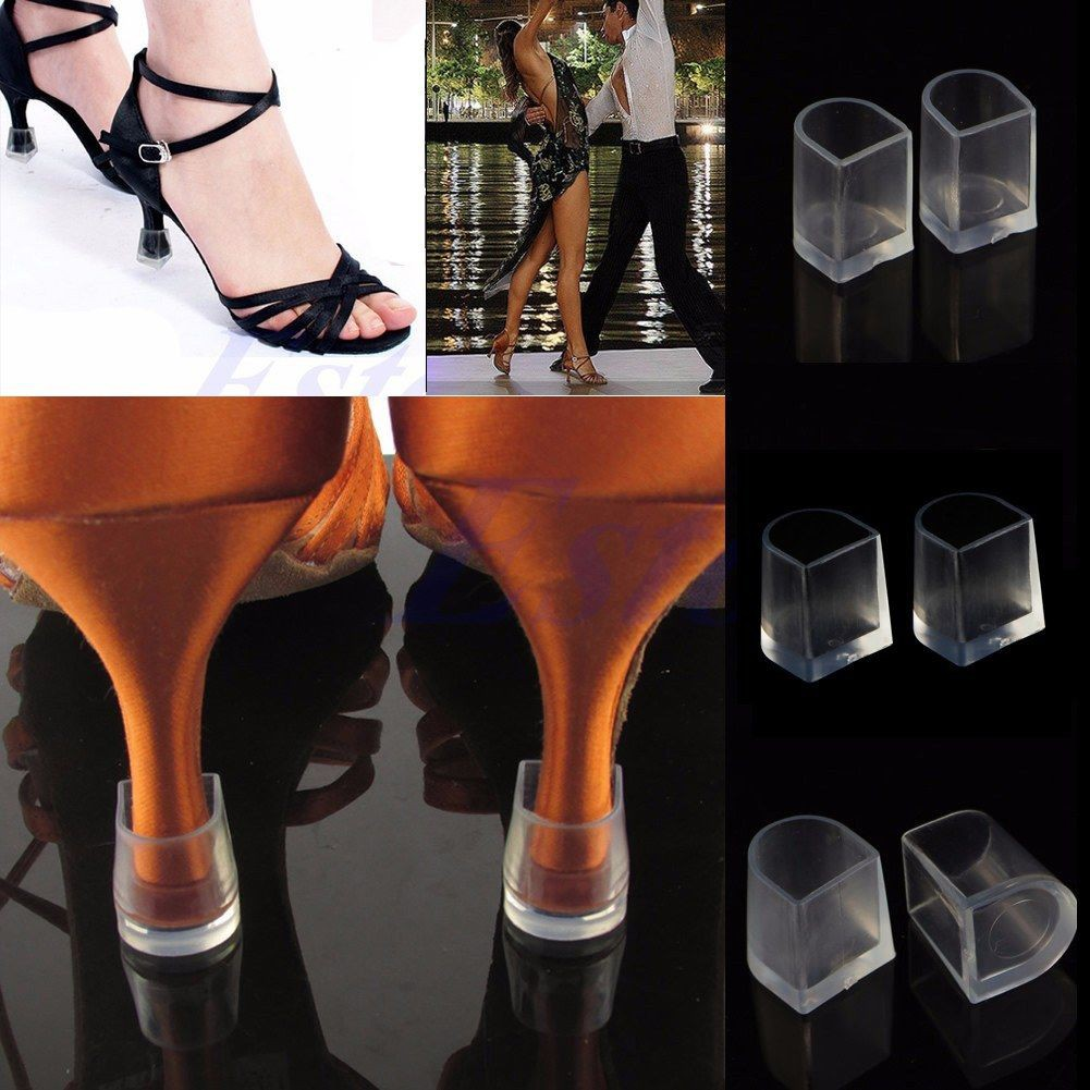 bdd55e967ea 1Pair Clear Stiletto High Heel Protectors Protective Covers Shoes Stoppers  S,M,L