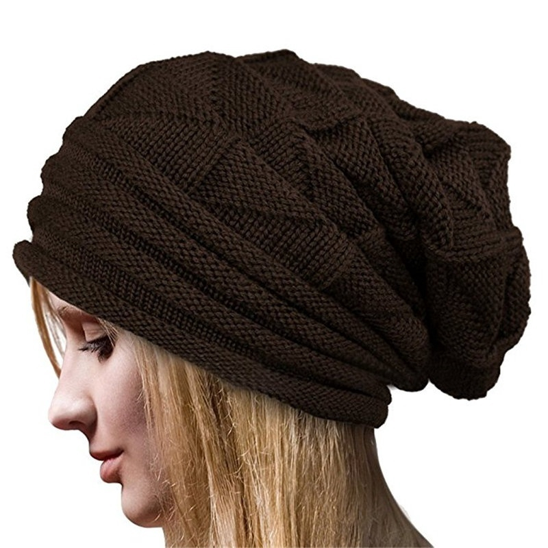 4fca528ba Women Winter Warm Slouchy Beanie Knit Crochet Ski Hat Oversized Cap Hat