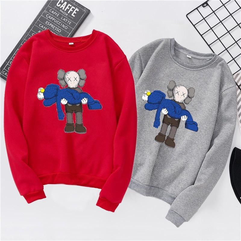 AAA 006 KAWS Long Sleeve TEE Japan Uniqlo Quality KAWS Family Couple Shirt Sesame Street Korean Tee New Desgin UT