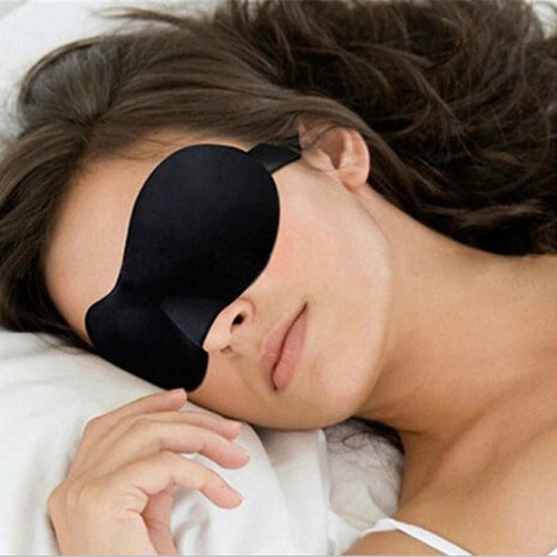 Unisex 3D Eye Masks Soft Sponge Padded Travel Sleeping Blindfold Aid Sleep Cover