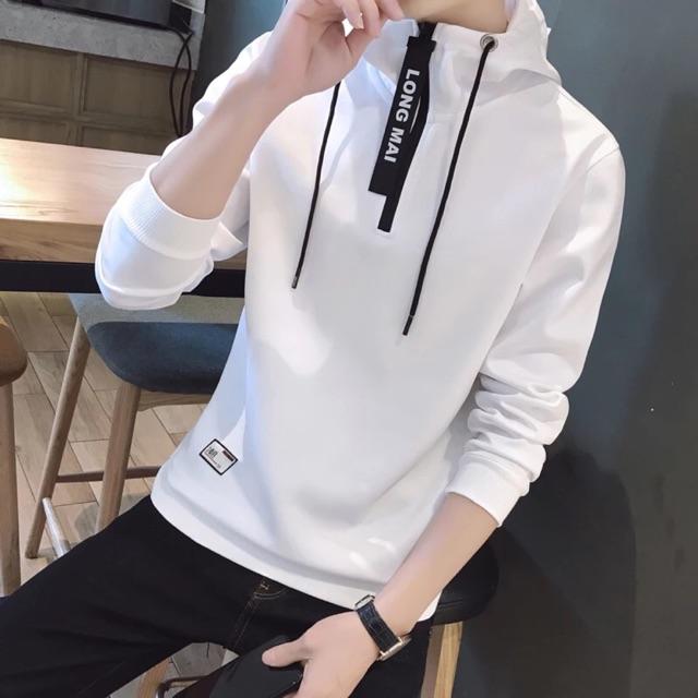 [M~4XL]Men Clothing Long Sleeve Sweater 男装长袖T恤秋装新款韩版潮流休闲运动连帽套头卫衣棒球服薄外套