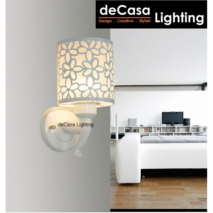 DECASA LIGHTING Set With 7w Led Bulb New Design Wall Lamp Modern Indoor Lighting E27 Wall Light Lampu Dinding (W829)