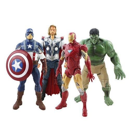 TV Movies Marvel The Avengers Hulk Captain Iron MAN PVC Figure Toys 20cm