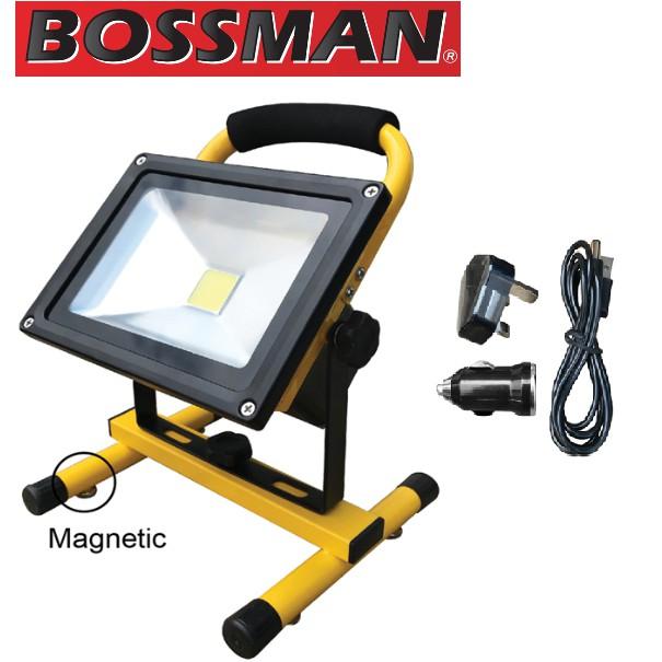 Bossman LED Rechargeable Flood Light.