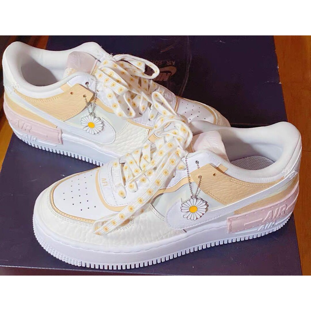 Nike Air Force 1 Shadow Daisy 100 Authentic Shopee Malaysia