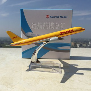 1/400 DHL Express Aircraft Boeing 757-200 B757 Diecast Airplanes Model