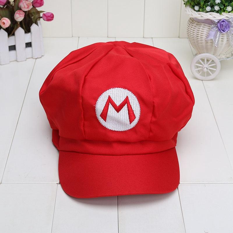 f507e953c Super Mario Bros Anime Cosplay Mario Red Cap Tag Super mario cotton ...