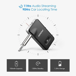 Mpow Bluetooth 4.1 Wireless Receiver with Car Locator Audio Adapter on
