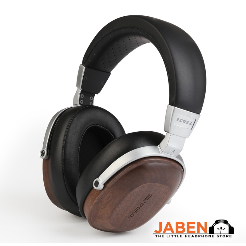 SIVGA SV006 High Performance Wooden Housing Detachable Cable In-Line Microphone Over-Ear Headphones [Jaben]