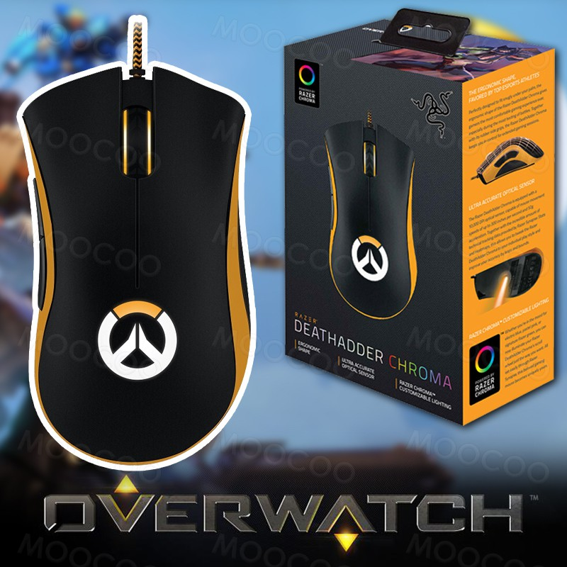 Razer DeathAdder Chroma Overwatch Edition - Chroma Enabled RGB Ergonomic  Gaming Mouse - World's Most Precise Sensor
