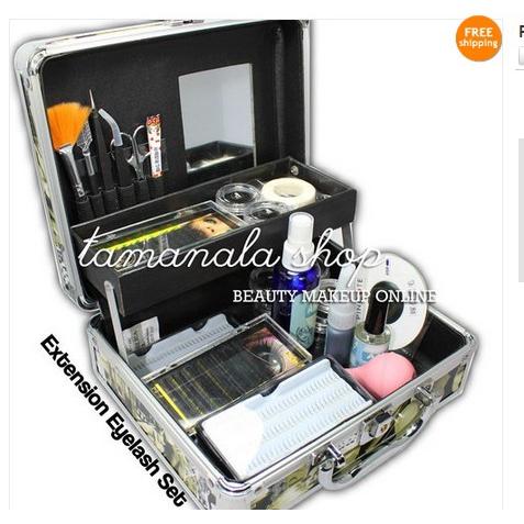 b34cd2eba1c ProductImage. ProductImage. Pro False Eye Eyelash Extension Glue Tools Full Kit  Set ...