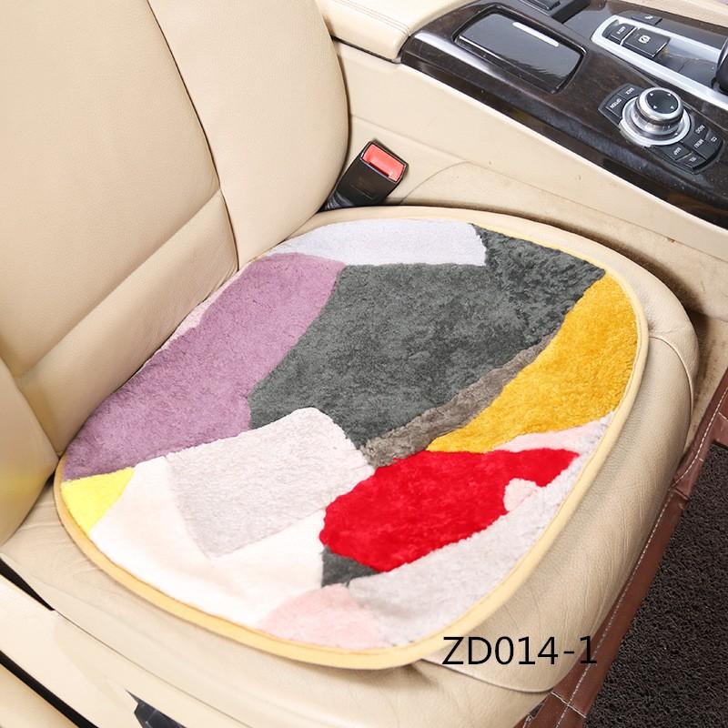 Strange Colors Match Together Woolen Fur Car Seat Cover Square Anti Slip Autumn Warm Forskolin Free Trial Chair Design Images Forskolin Free Trialorg