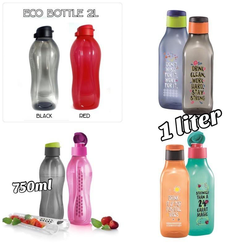 2pcs Botol Eco/BOTOL AIR BPA FREE TUPPERWARE / BOTOL AIR SEKOLAH / WATER DISPENSER/ BOTOL AIR PLASTIK/ BEKAS AIR