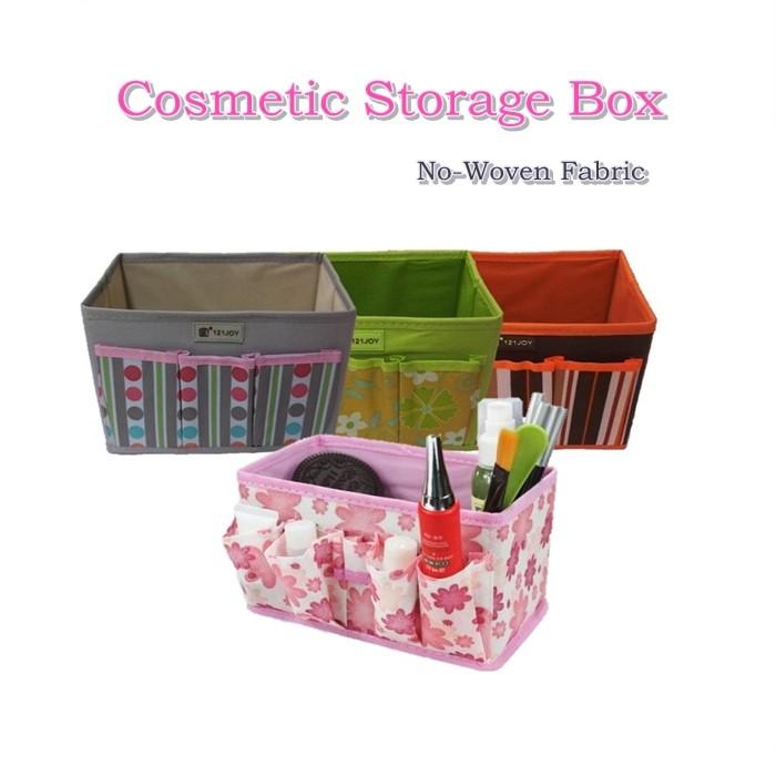 Non-Woven Cosmetic Storage Box - 3 Pocket