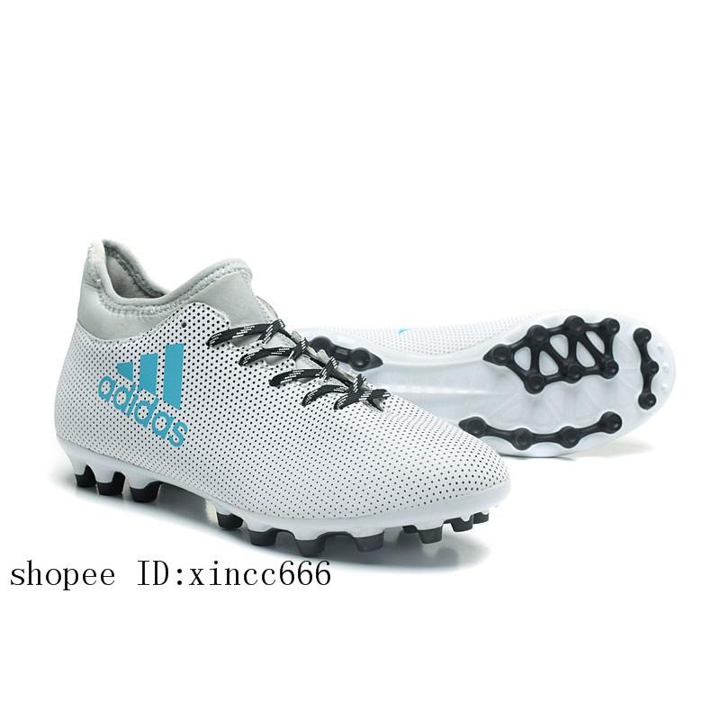 6a0d44dd3 Adidas X 17.3 AG White/Blue/Grey Football Shoes | Shopee Malaysia
