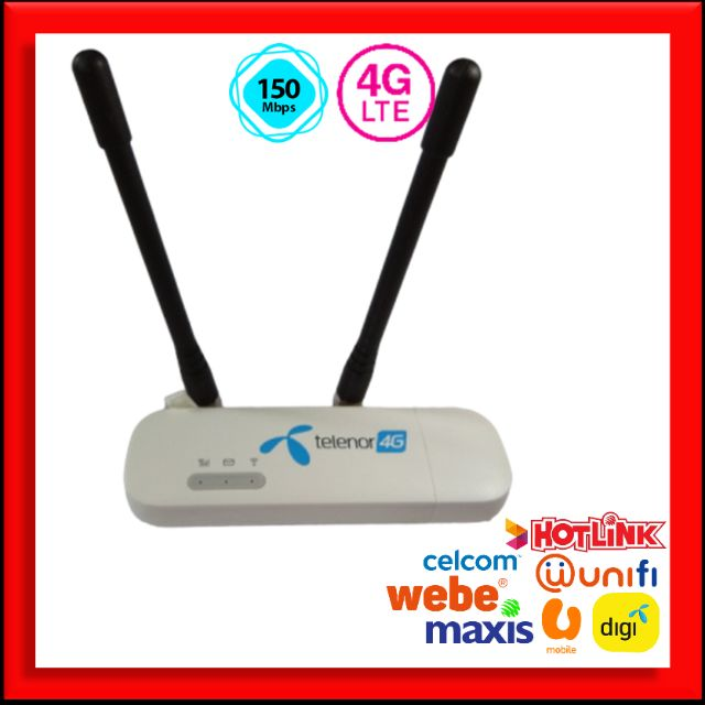 Huawei E8372 3G 4G | Portable Modem Wifi Portawifi + 2 Free Antenna