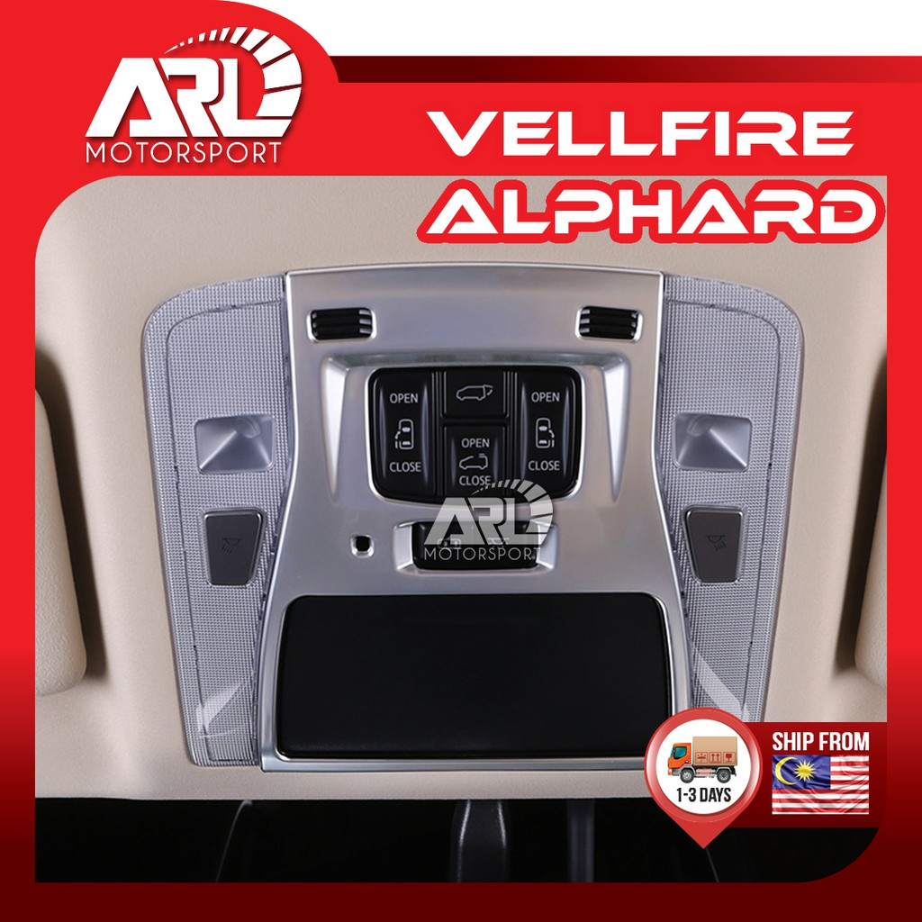 Toyota Alphard / Vellfire (2015-2020) AH30 AGH30 Front Room Lamp Cover Silver Car Auto Acccessories ARL Motorsport
