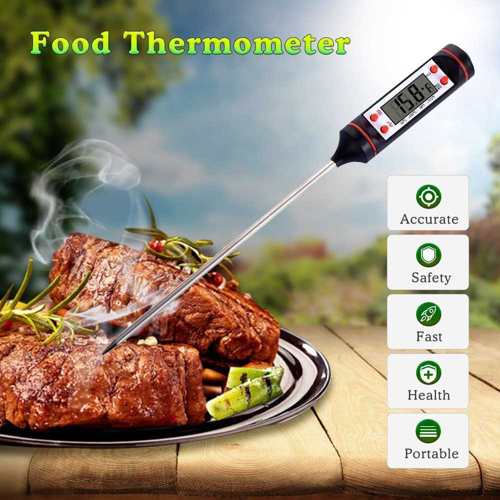 Thermometer Instant Read Digital Cooking Thermometer Candy Super Long Probe Kitchen BBQ Grill Smoker Meat Oil Milk Yogu
