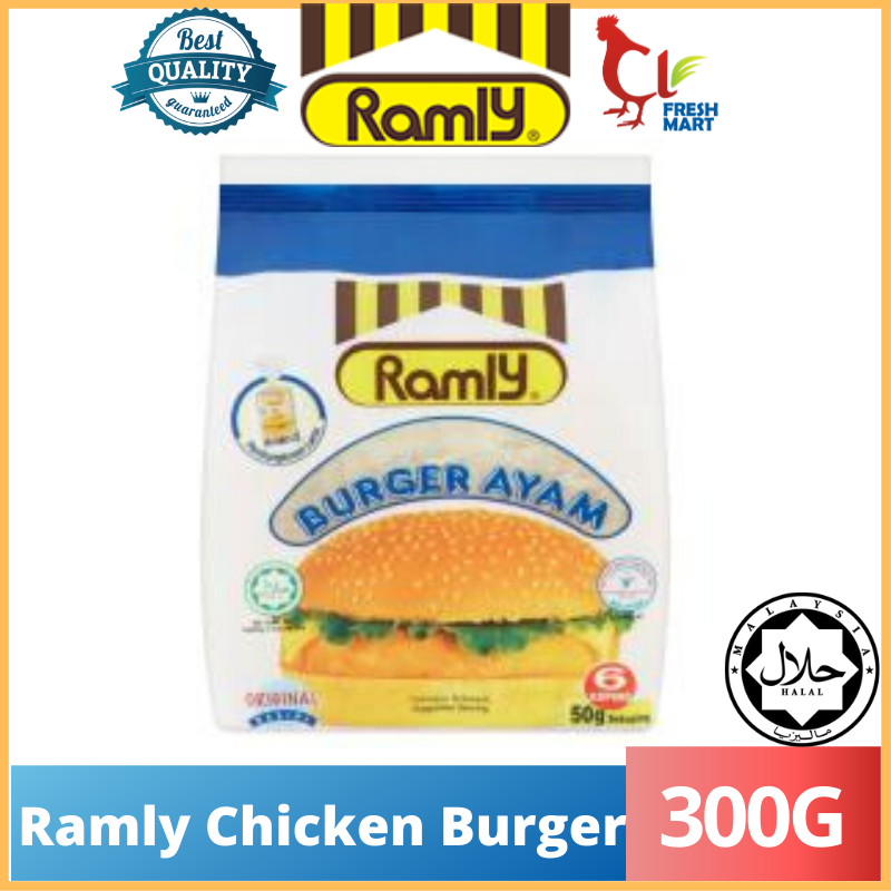 Original Chicken Burger Ramly (300g) 50g/6pcs