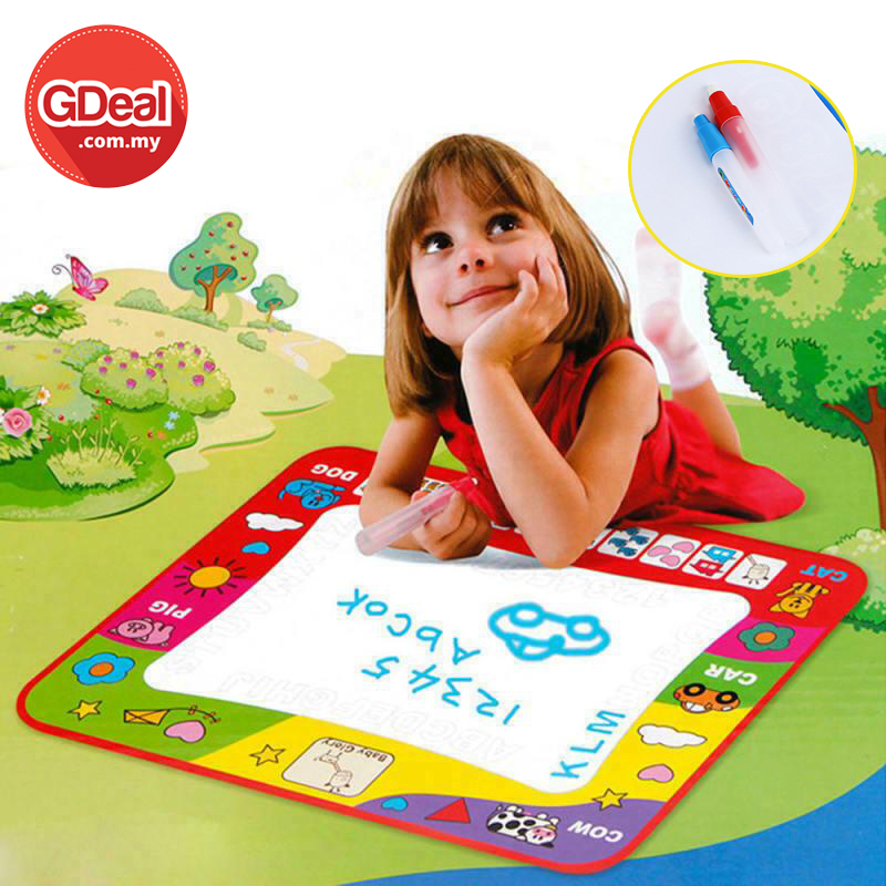 GDeal Childrens Large Magical Monochrome Water Canvas Writing Drawing Educational Blanket