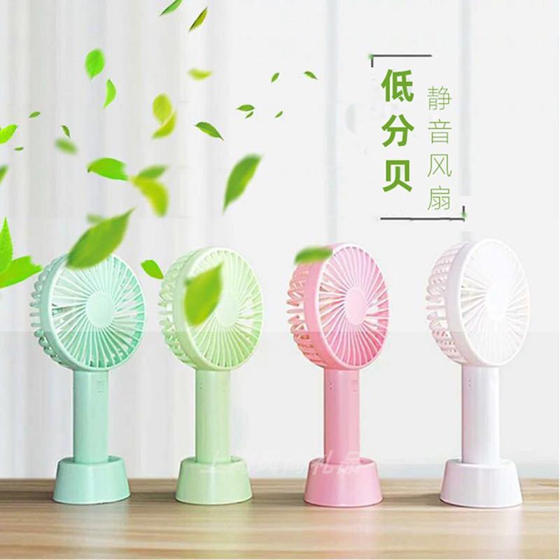 Color : Blue Air Cooling Fan USB Charging Fan Portable Desktop Detachable Base Fan Outdoor Handheld Mini Fan