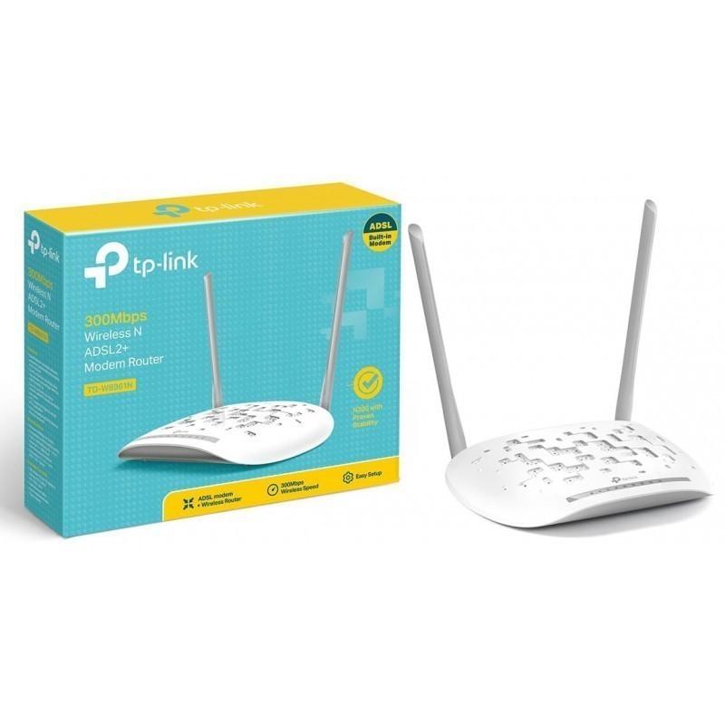 TP-LINK 8961 ADSL+2 MODEM 300Mbps Wireless N ADSL2+ Modem Router ...