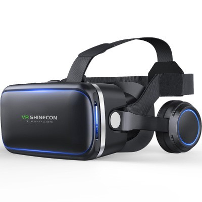 29bc9b8bd8be 3D VR Box Virtual Reality Glasses Goggles Headset Helmet with Earphones  Games