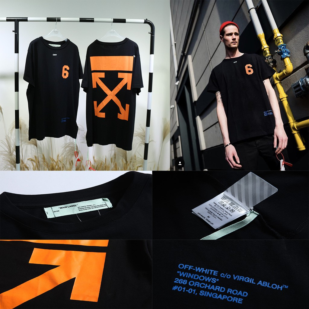738102e9 Off white Melbourne limited star fireworks T-shirts for men and women alike  | Shopee Malaysia