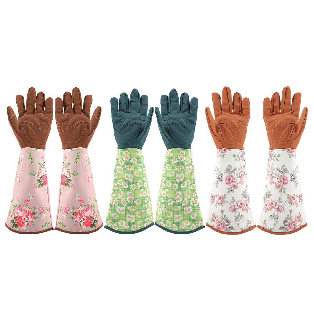 Garden Gloves 1 Pair Wrist Protection Anti Stab Working Tools Long Sleeve Cold-proof Gloves Accessories Trimming Gardening Labor Pruning Protective Gears