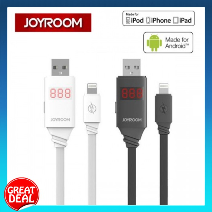 Joyroom JR-ZS200 Digital Data Lightning Cable for iPhone/iPad/Micro USB Android | Shopee Malaysia