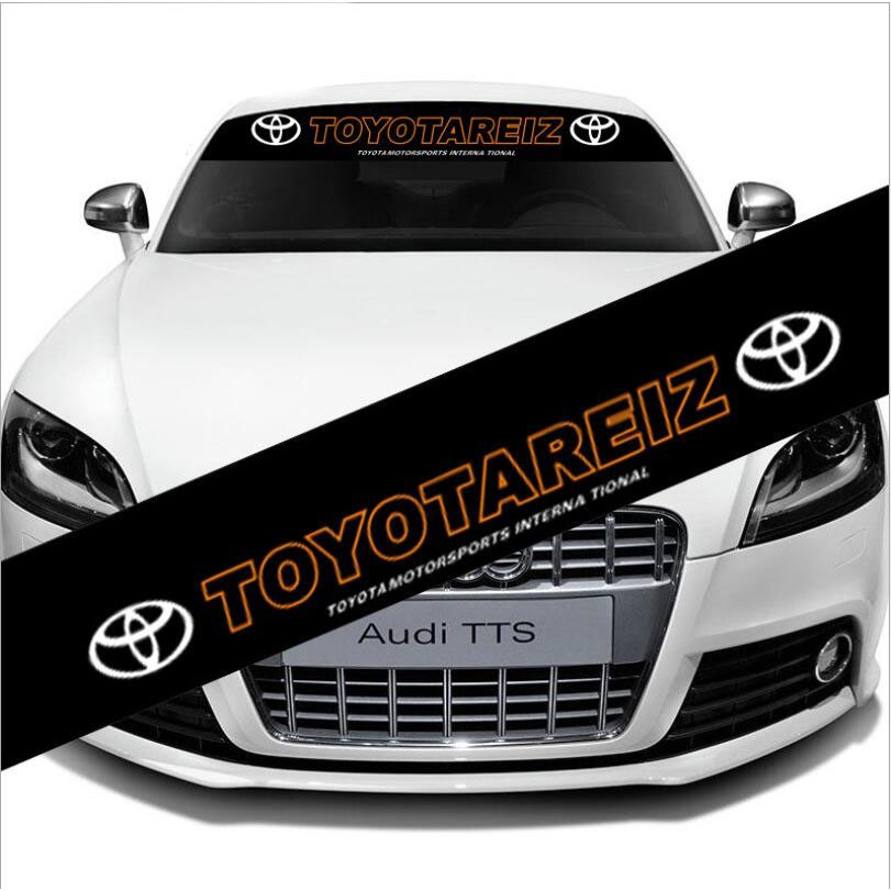 Car Front Windshield Banner Fit For TOYOTA REIZ Reflective Decal Vinyl Sticker