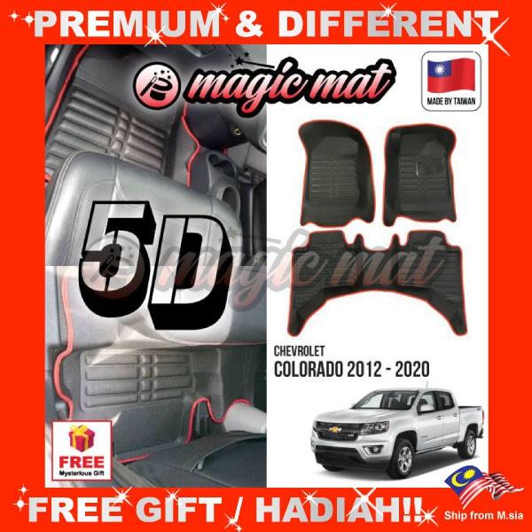 [FREE Gift] CHEVROLET COLORADO 2012 - 2020 (5 Seater) MAGIC MAT 5D OEM PU Leather Floor Mat Anti-Slip Easy Clean Carpet