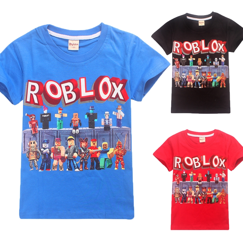 Roblox Children T Shirt Short Pants Outfit Kids Boys Girls Summer Fashion Casual Set Wish Boys Girls Roblox Kids Cotton T Shirt Tops Short Sleeve Casual Summer Clothing