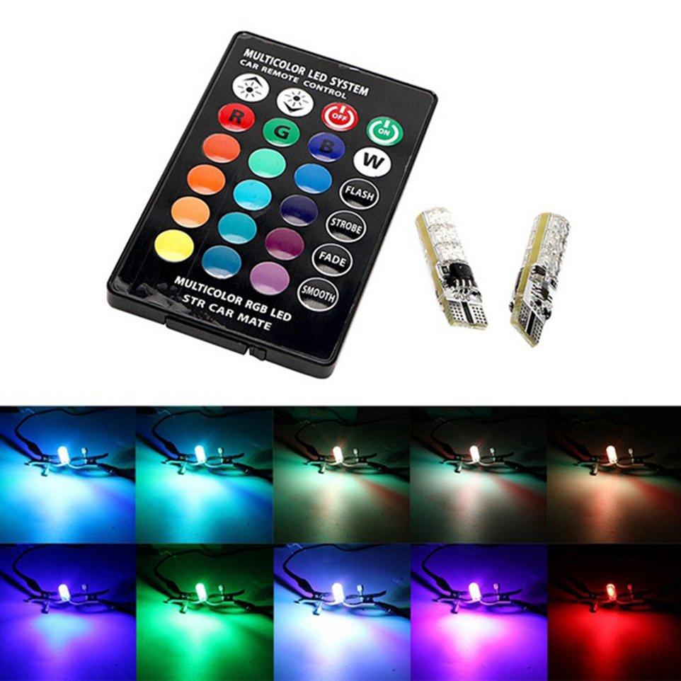 T10 6SMD 5050 RGB LED Auto Car Dome Reading Light Lamp Bulb Remote Control | Shopee Malaysia