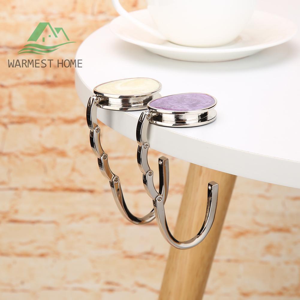 RhyNSky Cheetah /& Leopard Print Pattern Round Folding Foldable Handbag Hook Purse Hanger Holder for Table /& Desk C1361