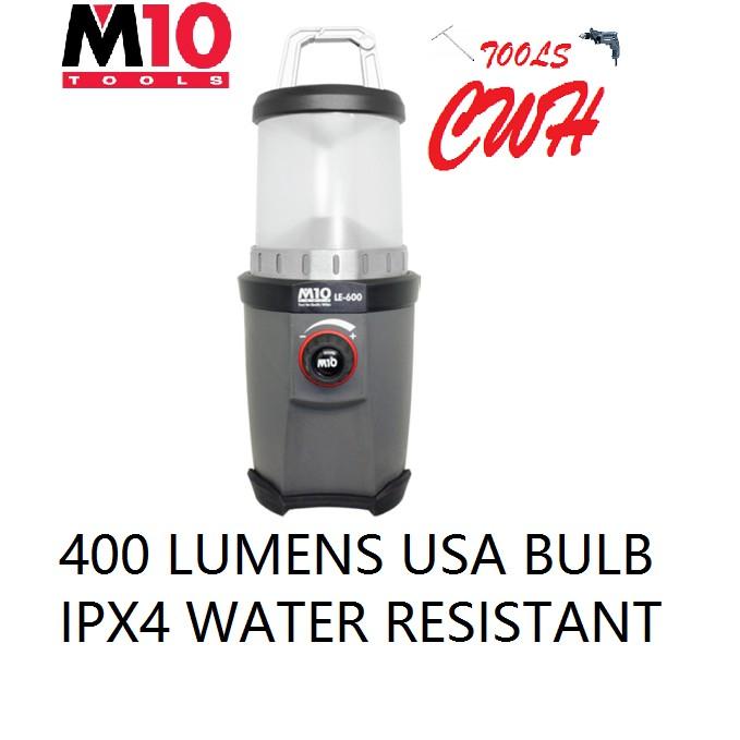 400 LUMENS LE-600 M10 5W LED HEAVY DUTY LANTERN FLASHLIGHT TORCHLIGHT LAMP NICRON LE600 CWH TOOLS BLACK HARDWARE