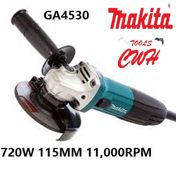 MAKITA GA4530 720W 115MM ANGLE GRINDER CUTTER GRINDING CUTTING