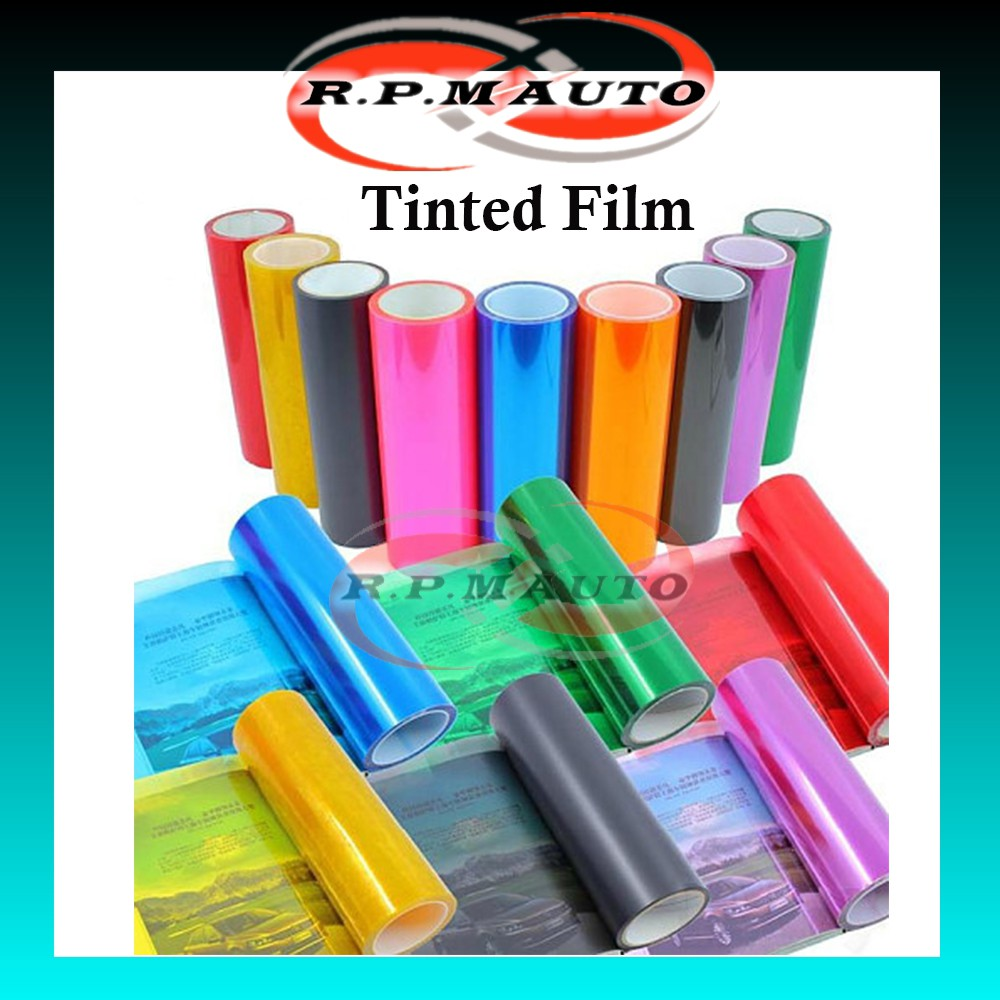 1 Meter x 30cm / 1M x 40cm Car Kereta Motor Tinted Film Headlamp Headlight Fog light Tail Light Sticker Smoke Tint Film
