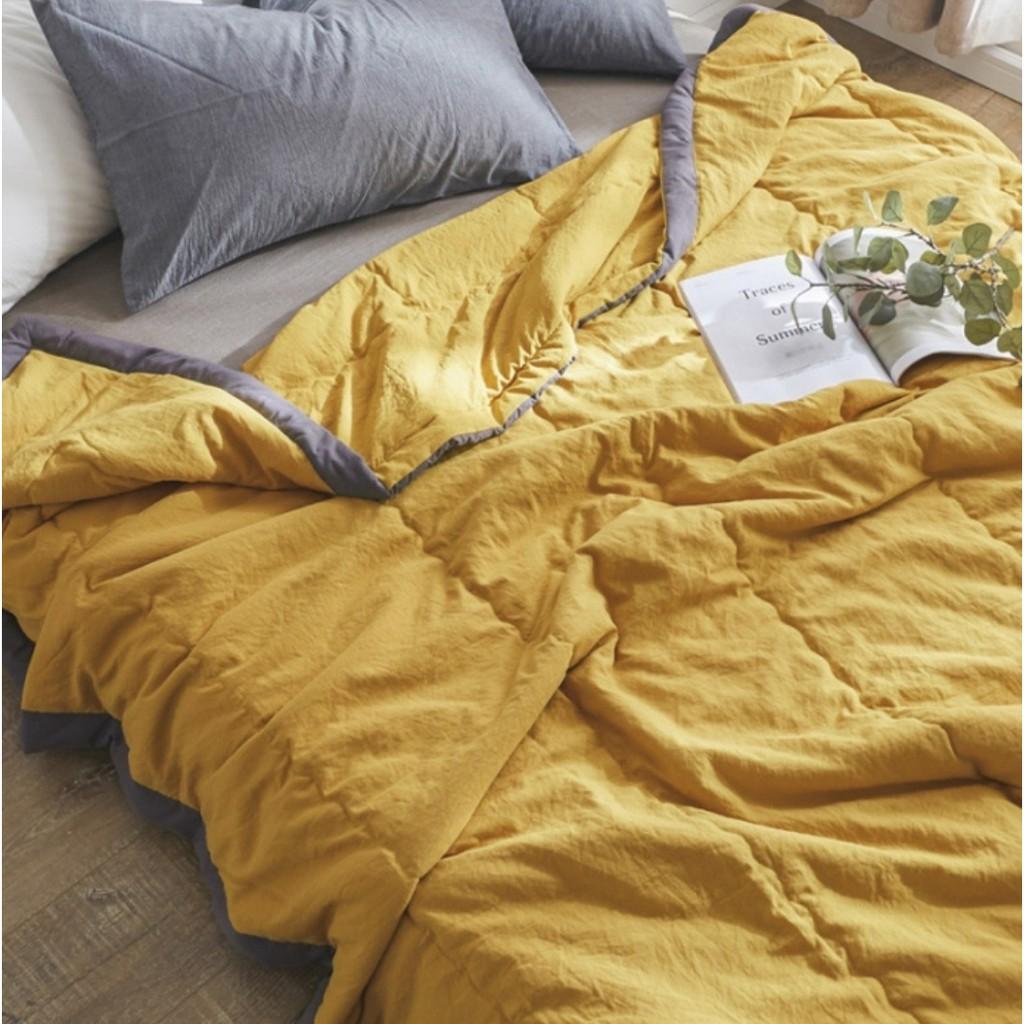 Soft Summer Plain Quilt Thin Blanket Queen 190x210cm