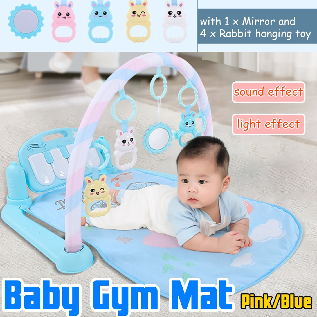 Baby Gym Floor Play Mat Musical Activity Playmat Fitness Music Lights Piano Toys
