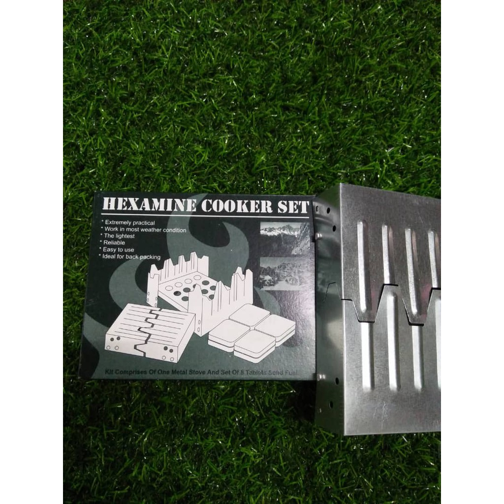 HEXAMINE COOKER SET (FUELS TABLET AND CAMPING STOVE)