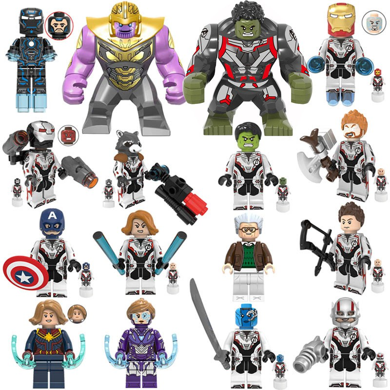 16PCS Endgame Figures Thanos IronMan War Machine Lego Minifigures