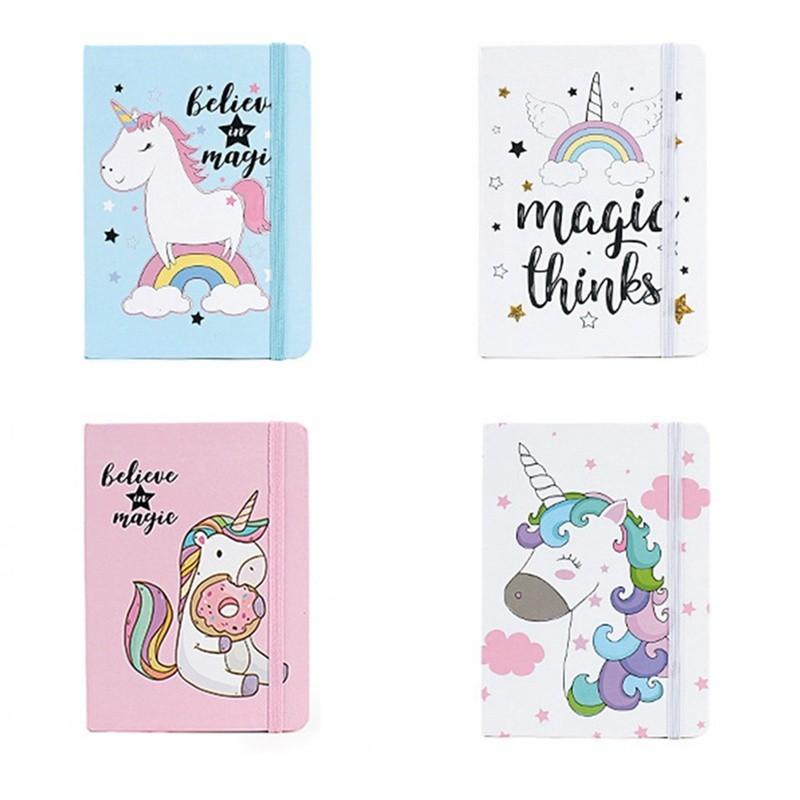 Kawaii Unicorn Printing Notebook Cartoon Diary Planner Notepad For