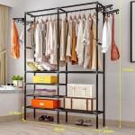 GDeal Multi Purpose Stainless Steel Wardrobe Coat Storage Clothes Organizer Household Garment Rack
