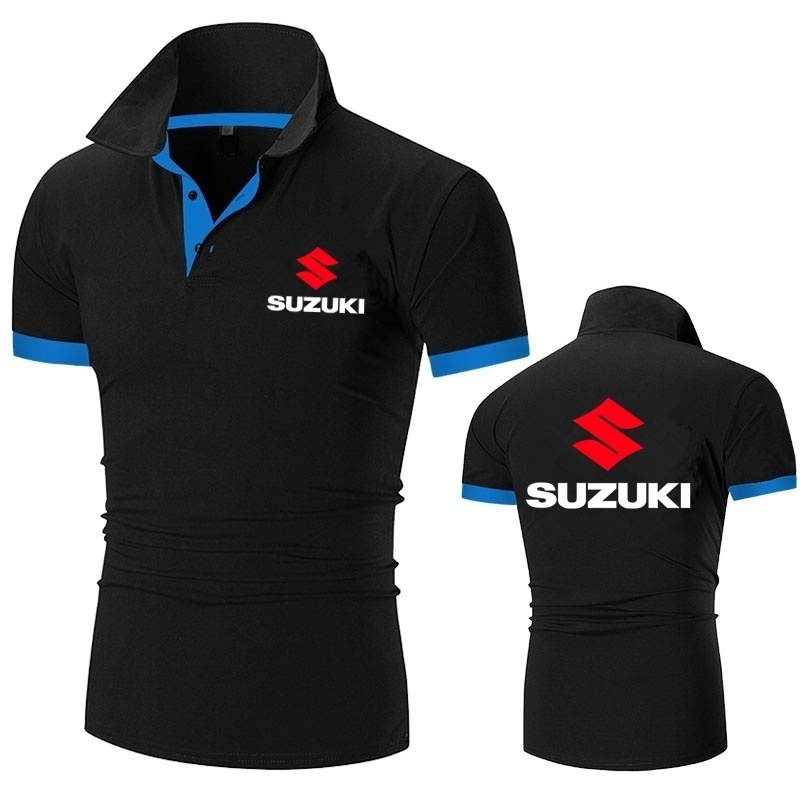 Suzuki Motorsport Team Logo Polo Shirt Men Short Sleeve T Shirt ...