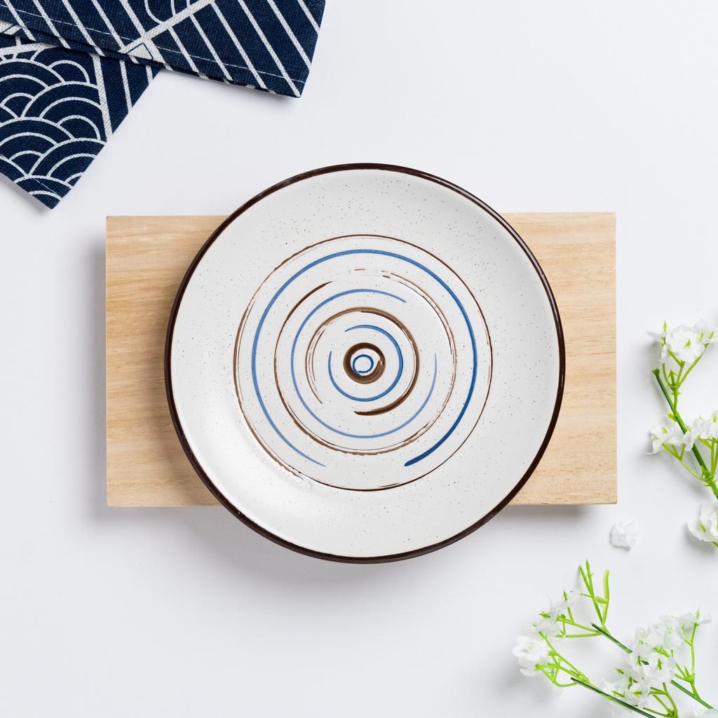 Sukuryū Series Tree Wood Pattern Design Plate Japanese Ceramic Plate Pinggan 日式古典风陶瓷碟