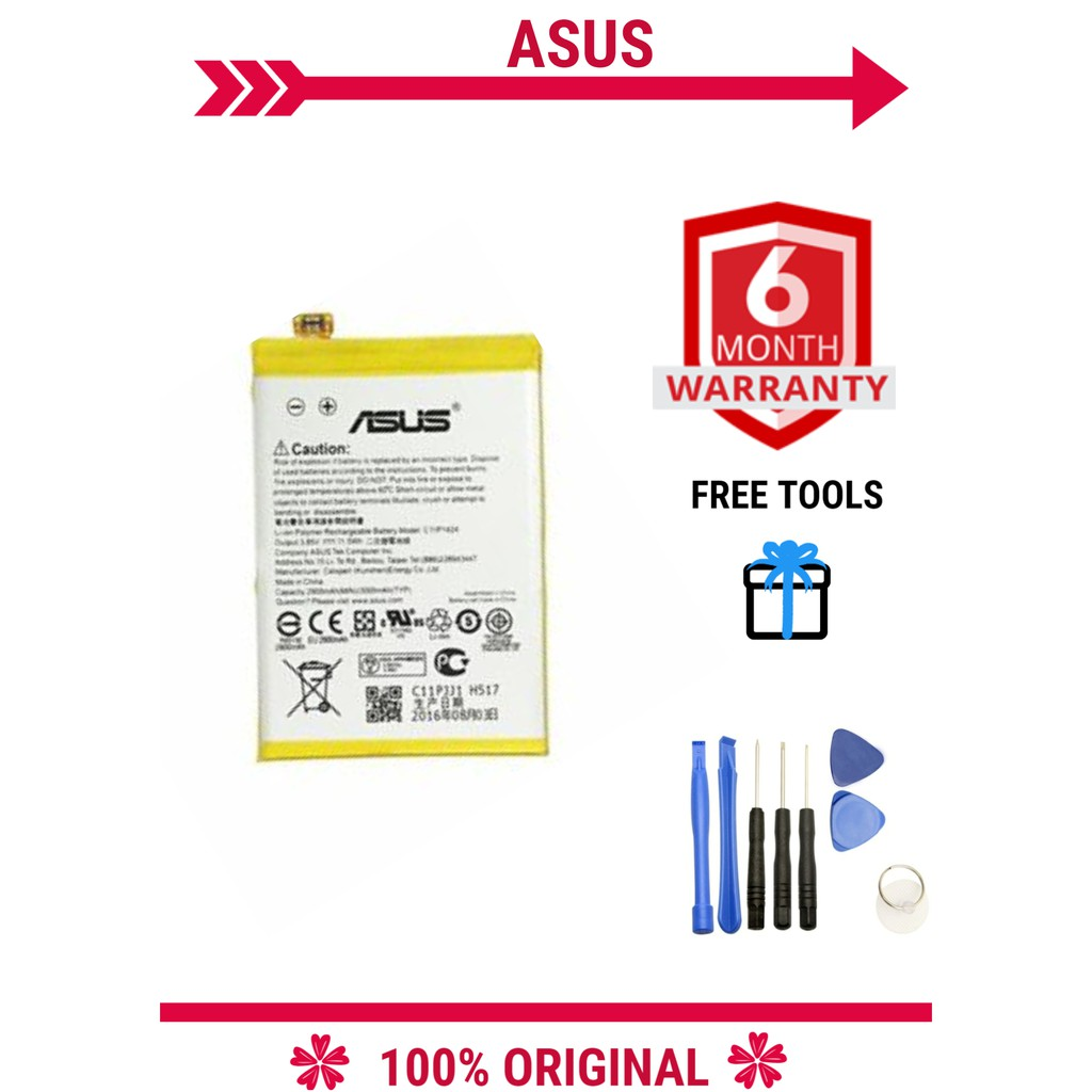 100% ORIGINAL Asus Zenfone 2 Z00AD/Z008D/ZE550ML/ZE551ML Battery 2900mAh